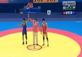پیروزی جوکار مقابل نماینده هند