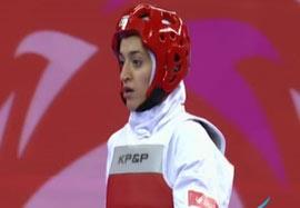 کسب مدال برنز تکواندو بانوان توسط حاجی پور