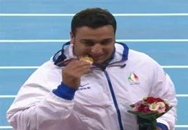 مراسم اهدا مدال طلا حدادی