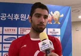 مصاحبه بازیکنان والیبال بعد بازی کویت