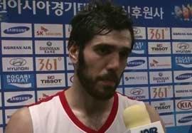 مصاحبه بازیکنان بسکتبال بعد بازی قزاقستان