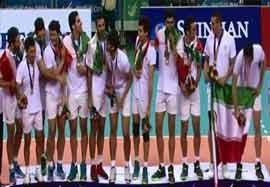مراسم اهدای مدال طلا تیم ملی والیبال