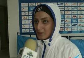 مصاحبه با فاطمه چالاکی بعد کسب مدال برنز