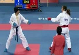 کسب مدال برنز توسط نسرین دوستی در کاراته