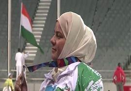 کسب مدال نقره پرتاب دیسک بانوان توسط متقیان