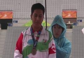 کسب مدال نقره پرتاب دیسک توسط مجیدی