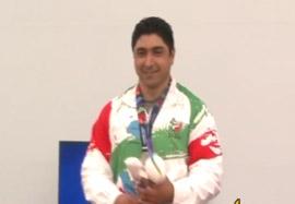 کسب مدال نقره وزنه برداری توسط رضی