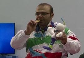 کسب مدال طلا توسط حامد صلحیپور