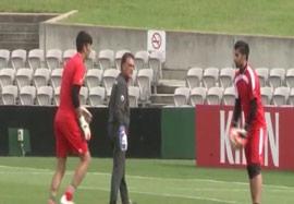 آخرین تمرین تیم ملی قبل از رویارویی با قطر