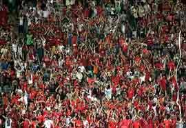 تشویق جالب هواداران کره در جام ملت ها
