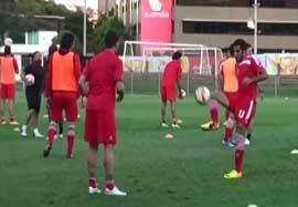 آخرین تمرین ایران قبل بازی با امارات