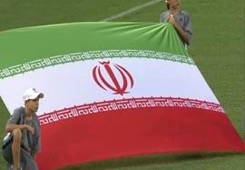 سرود ایران ابتدای بازی با امارات