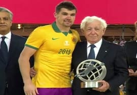 مت رایان بهترین دروازهبان جام ملت های آسیا ۲۰۱۵