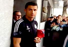 استقبال پرشور از رئال مادرید در تورین ایتالیا