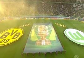 مراسم ابتدایی زیبا قبل بازی دورتموند-وولفسبورگ
