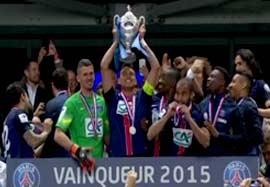 جشن قهرمانی پاریس سنت ژرمن در جام حذفی