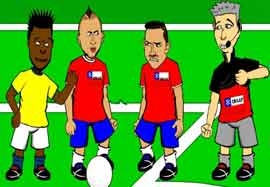 انیمیشن بازی شیلی - اکوادور