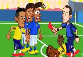 انیمیشن جالب بازی برزیل-کلمبیا