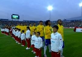 مراسم شروع بازی ونزوئلا-برزیل