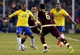 برزیل ۲-۱ ونزوئلا (عدم حضور نیمار بدلیل محرومیت)
