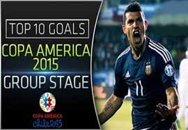 ۱۰ گل برتر مرحله گروهی کوپا آمریکا ۲۰۱۵ شیلی