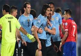 حواشی بازی جنجالی شیلی-اروگوئه