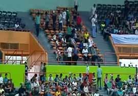 حال و هوای ورزشگاه آزادی قبل والیبال ایران-لهستان