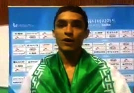 مصاحبه هادی پور بعد قهرمانی در مسابقات دانشجویان