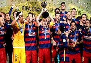 مراسم اهدای جام قهرمانی بارسلونا