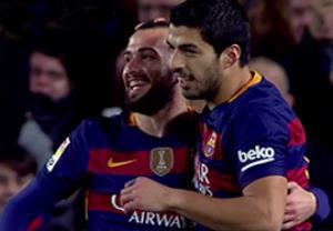 گل دوم سوارز؛ بارسلونا-والنسیا