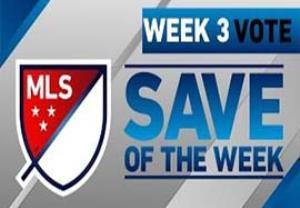 سیوهای برتر هفته سوم لیگ MLS آمریکا