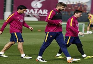 ریکاوری بازیکنان بارسلونا بعد از شکست اتلتیکومادرید