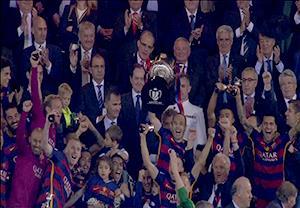مراسم اهدای جام قهرمانی به بارسلونا