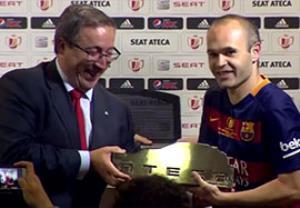 اینیستا بهترین بازیکن فینال جام حذفی اسپانیا