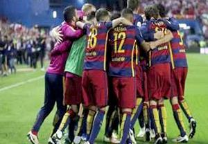 قهرمانی بارسلونا در جام حذفی اسپانیا به روایت عکس