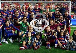 جشن قهرمانی جام حذفی بارسلونا با دوربین 360 درجه