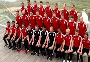 عکس یادگاری بازیکنان ولز قبل از بازی های یورو2016