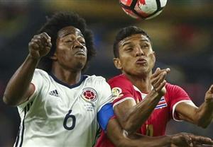 شکست کلمبیا مقابل کاستاریکا در کوپا آمهریکا