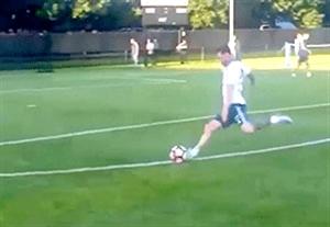 دو گل زیبای مسی در تمرینات آرژانتین