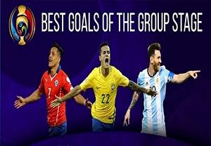 10 گل برتر مرحله گروهی کوپا آمریکا 2016