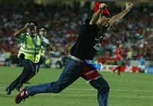 جیمی جامپ حرفه ای در بازی کلمبیا - شیلی