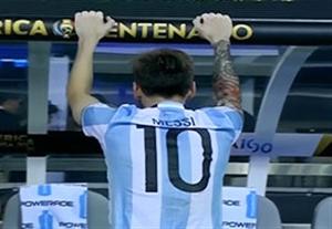 اشکهای مسی بعد از دست دادن جام قهرمانی کوپا آمریکا