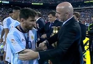 مراسم اهدای مدال نایب قهرمانی به آرژانتین