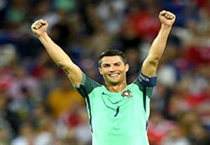 جشن صعود رونالدو و یارانش به فینال یورو 2016