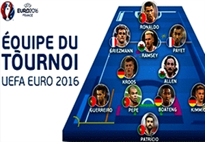 سه رئالی در جمع تیم منتخب یورو 2016