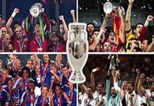 تمام قهرمانان تاریخ جام ملت های اروپا