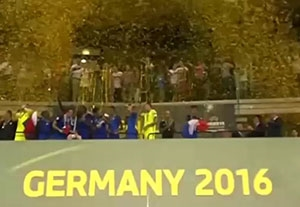 جشن قهرمانی تیم ملی زیر 19سال فرانسه در یورو 2016