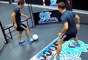 آموزش دریبل های حرفه ای در فوتبال خیابانی