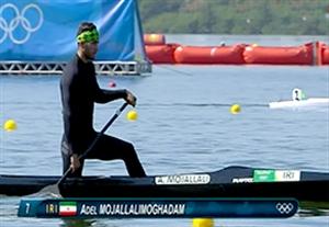 مقام ششم عادل مجللی مقدم در کانوی تکنفره 200 متر