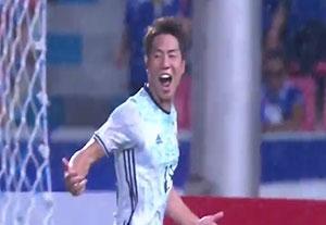 گلهای بازی تایلند 0-2 ژاپن